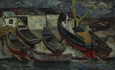 Vadim Semenovich Velichko, 'Barges', 1956