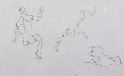 Giorgio de Chirico, 'Studio di figura e cavallo', 1972 ca.