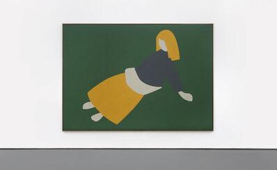 Antonio Ballester Moreno, 'Woman Lying on the Grass (Yellow Skirt)', 2020