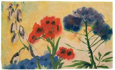 Emil Nolde, 'Rote und Blaue Blumen (Red and Blue Flowers)', 1950-1951