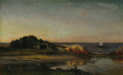 Winckworth Allan Gay, 'Sailing off the Seashore, Cohasset, Massachusetts', 1872