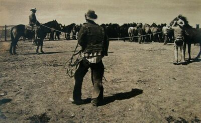 Bank Langmore, 'Untitled (Cowboys with Rope and Horses)', 1973-1975