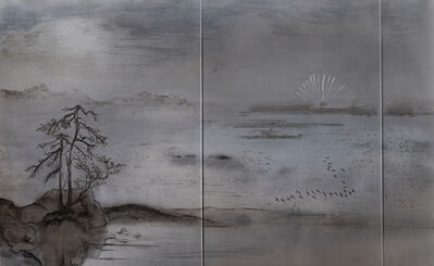 Jennifer Wen Ma 马文, 'Blooming Flower, Descending Geese', 2017