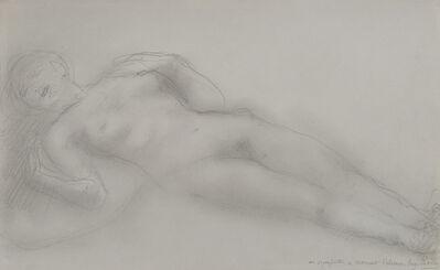 Auguste Rodin, 'Femme nue allongée ', 1908-1914