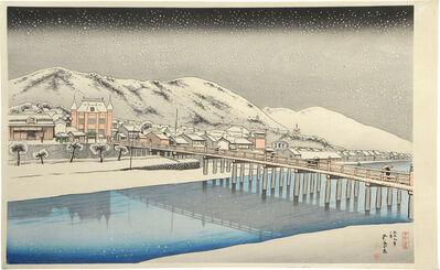 Goyo Hashiguchi, 'Great Bridge at Sanjo, Kyoto', ca. 1920