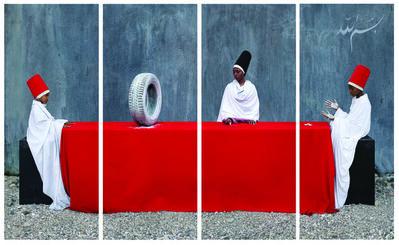 Maïmouna Guerresi, 'White Rubber Tire - First Lesson', 2014