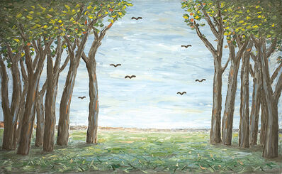 Peter Booth, 'Painting 2010 (Trees and Birds)', 2010