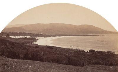 Carleton E. Watkins, 'Carmel Beach from Cypress Drive'