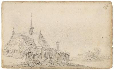 Jan van Goyen, 'A village church', 1650