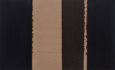 HyongKeun Yun, 'Burnt Umber & Ultramarine', 1989