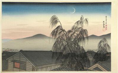 Goyo Hashiguchi, 'Evening Moon at Kobe', ca. 1920