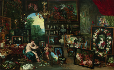 Jan Brueghel the Younger, 'The Five Senses: Sight', 1625
