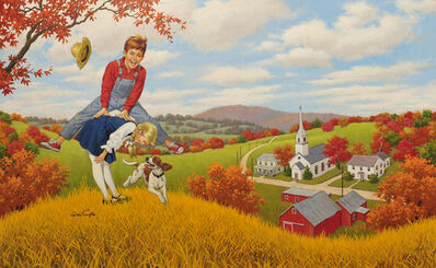 Arthur Sarnoff, 'Boy and Girl by Church'