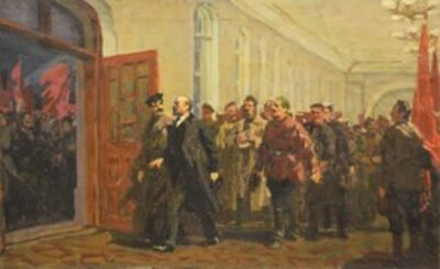 Vladimir Semenovich Zakharkin, 'April third', 1951