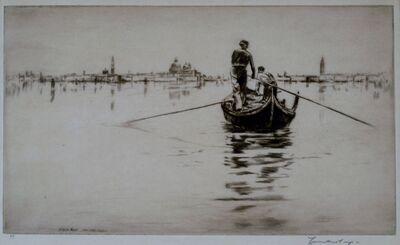 Levon West, 'Sandolo, Venice', 1931