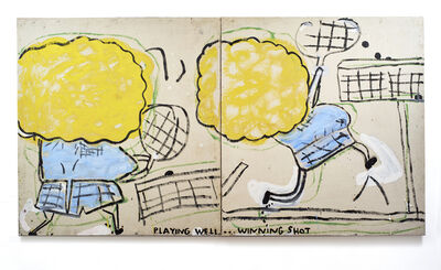 Rose Wylie, 'Playing Well', 2016