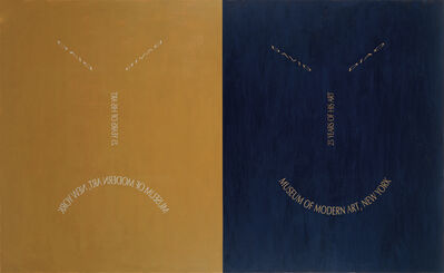 David Diao, 'Slanted MoMA', 1995
