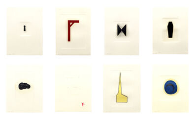Robert Therrien, 'Hand Colored Prints [Set of Eight Prints]', 1988-1995