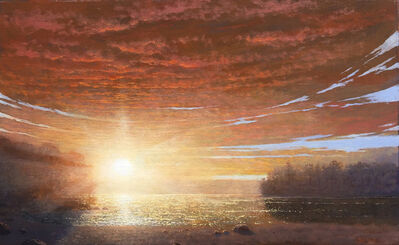 Ken Salaz, 'Sunrise over Walden Pond', 2020