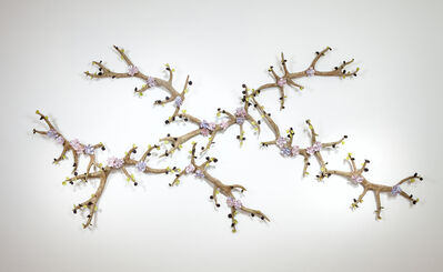 Bradley Sabin, 'Branching Antlers with Flowers '