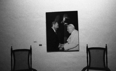 Henry Horenstein, ''Castro and Pope', Havana, Cuba', 2000