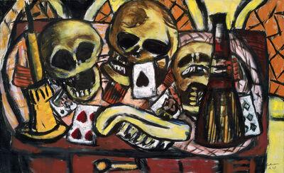 Max Beckmann, 'Still Life with Three Skulls', 1945