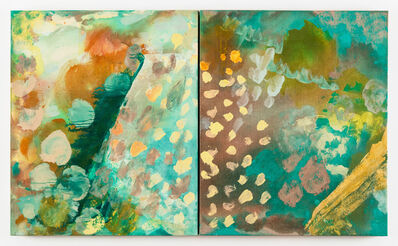 "Molly Herman, 'Dwell In Green Mountain (diptych) 24 x 40""', 2019"