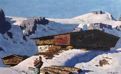 Alfons Walde, 'Einsamer Berghof', 1935