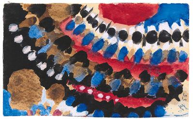 Ernst Wilhelm Nay, 'Ohne Titel (Postkarte)', 1955