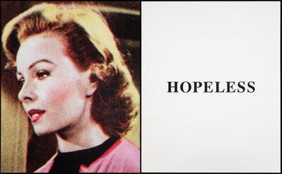 John Baldessari, 'Prima Facie (Second State): Hopeless', 2005