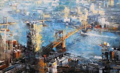 Mark Lague, 'Brooklyn and Manhattan Bridge', 2019