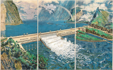 Yang Jiechang 杨诘苍, 'Crying Landscape: Three Gorges Dam 会叫的风景', 2002