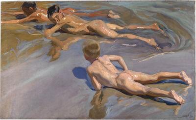 Joaquín Sorolla y Bastida, 'Boys on the Beach', 1909