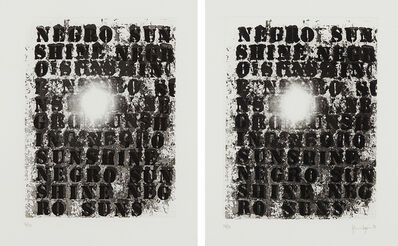 Glenn Ligon, 'Untitled 1; and Untitled 2', 2010