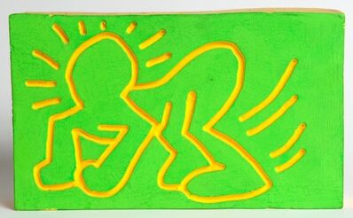 Keith Haring, 'Crawling Radiant Baby Wood Carving', 1983