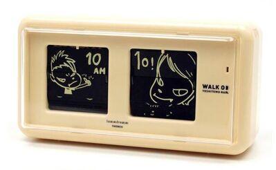 Yoshitomo Nara, 'Walk on Flip Clock (Beige)', 2010-2020