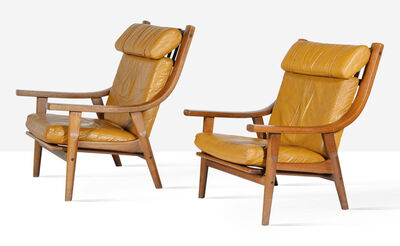 Hans Jørgensen Wegner, 'Pair of lounge chairs', circa 1970