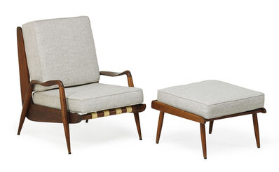 Phillip Lloyd Powell, 'Lounge chair and ottoman, New Hope, PA', 1960s