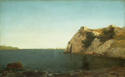 John Frederick Kensett, 'Beacon Rock, Newport Harbor', 1857