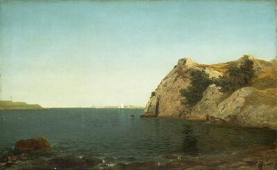 John Frederick Kensett, 'Beacon Rock, Newport Harbor', 1857