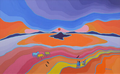 Ted Harrison, 'Game Guide Horses', 1989