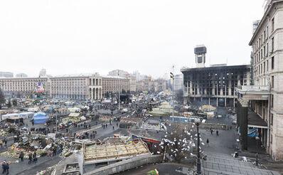 Donald Weber, 'From the series Architecture of Siege (Barricade), Maidan Nezalezhnosti I, After February 18', 2014