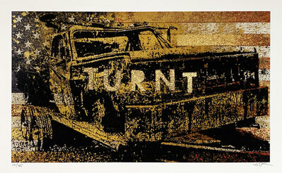 Bask, ''Turnt' Hand-Painted Print', 2019