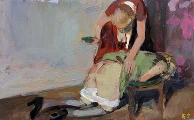 Geraldine Swayne, 'Using a hair brush', 2014