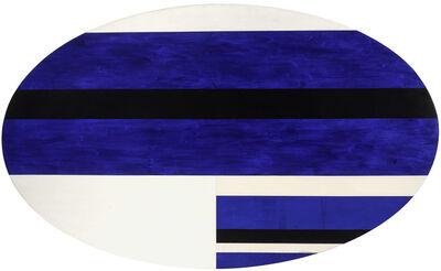 Ilya Bolotowsky, 'Blue Black and White Ellipse', 1965