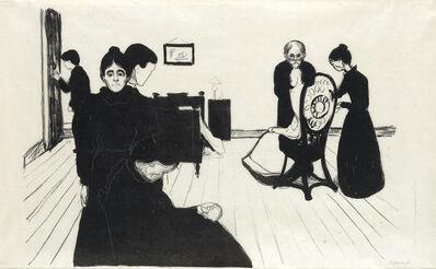 Edvard Munch, 'Der Tod im Krankenzimmer', 1896