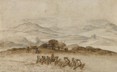 Claude Lorrain, 'Landscape in Latium with Farm Laborers', 1660-1663