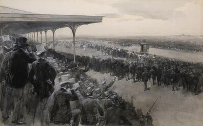 William Thomas Smedley, 'Melbourne Cup from the Member's Stand', 1887