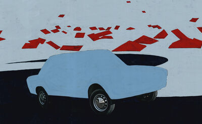 Koen Wastijn, 'Blue Car and the red roof', 2019