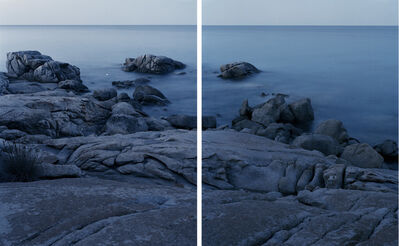 Fabio Barile, 'Granite in Sardinia formed during the Variscan orogeny, a geologic mountain-building event caused by Late Paleozoic continental collision between Euramerica (Laurussia) and Gondwana to form the supercontinent of Pangaea. Lido di Orrì, Sardinia. (Diptych)', 2016